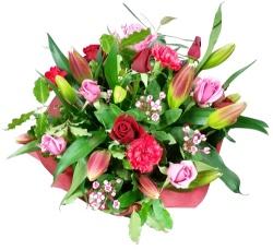 Bouquet Roses Lillies Christchurch