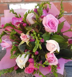 Fragrant Roses Freesias from Flower Biz Christchurch City Central